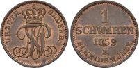 Oldenburg CU-Schwaren 1859  B Leichte Patina, vorzüglich - Stempelglanz ... 25,00 EUR  zzgl. 3,00 EUR Versand