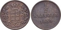 CU-1/2 Kreuzer 1855 Württemberg Wilhelm I. 1816-1864. fast vorzüglich  12,00 EUR  zzgl. 3,00 EUR Versand