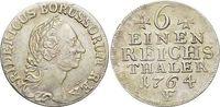 1/6 Taler 1764  F Brandenburg-Preussen Friedrich II. 1740-1786, Münzstä... 159,00 EUR kostenloser Versand