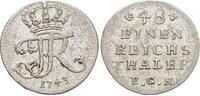 1/48 Taler 1743 Brandenburg-Preussen Friedrich II. 1740-1786, Münzstätt... 39,00 EUR  zzgl. 3,00 EUR Versand