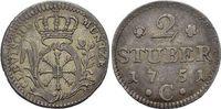 2 Stüber 1 1751  C Brandenburg-Preussen Friedrich II. 1740-1786, Münzst... 125,00 EUR kostenloser Versand
