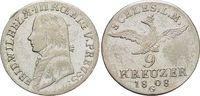 9 Kreuzer 1808  G Brandenburg-Preussen Friedrich Wilhelm III. 1797-1840... 259,00 EUR kostenloser Versand