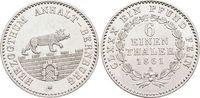 1/6 Taler 1861  A Anhalt-Bernburg Alexander Carl 1834-1863. Min.Kr., vo... 45,00 EUR  zzgl. 3,00 EUR Versand