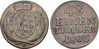 1/48 Taler 1806  H Sachsen-Albertinische Linie Friedrich August I. 1806... 22,00 EUR  zzgl. 3,00 EUR Versand