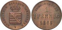 CU-Pfennig 1865 Sachsen-Meiningen Bernhard Erich Freund 1803-1866. vorz... 17,00 EUR  zzgl. 3,00 EUR Versand