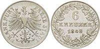 6 Kreuzer 1848 Frankfurt-Stadt  sehr schön - vorzüglich  19,00 EUR  zzgl. 3,00 EUR Versand