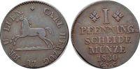 CU-Pfennig 1830 Braunschweig-Herzogtum Karl II. 1815-1830. vorzüglich  22,00 EUR  zzgl. 3,00 EUR Versand