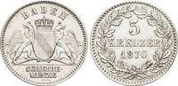 3 Kreuzer 1870 Baden-Durlach Friedrich I. 1852-1907. vorzüglich +  25,00 EUR  zzgl. 3,00 EUR Versand