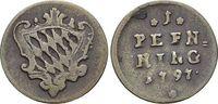 CU-Pfennig 1797 Bayern Karl Theodor 1777-1799. sehr schön  12,00 EUR  zzgl. 3,00 EUR Versand