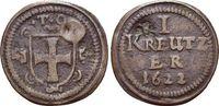 CU-Kipper-Kreuzer - mit Gegenstempel'Ros 1622 Deutscher Orden Karl, Erz... 189,00 EUR kostenloser Versand