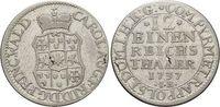 1/12 Taler 1737  IB Waldeck Karl August Friedrich 1728-1763. Kl.durchge... 195,00 EUR kostenloser Versand