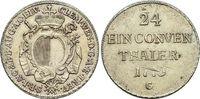 1/24 Taler 1773  G Augsburg-Bistum Clemens-Wenzel von Sachsen-Polen 176... 149,00 EUR kostenloser Versand