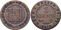 CU-3 Centimes 1812  C Westfalen-Königreich Hieronymus Napoleon 1807-181... 12,00 EUR  zzgl. 3,00 EUR Versand
