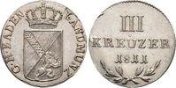 3 Kreuzer 1811 Baden-Durlach Carl Ludwig Friedrich 1811-1818. Selten, v... 179,00 EUR kostenloser Versand