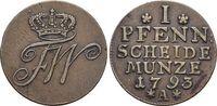 CU-Pfennig 1793  A Brandenburg-Preussen Friedrich Wilhelm II. 1786-1797... 29,00 EUR  zzgl. 3,00 EUR Versand