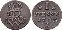 Pfennig 1789  A Brandenburg-Preussen Friedrich Wilhelm II. 1786-1797. s... 19,00 EUR  zzgl. 3,00 EUR Versand