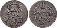 Pfennig 1790  A Brandenburg-Preussen Friedrich Wilhelm II. 1786-1797. v... 25,00 EUR  zzgl. 3,00 EUR Versand
