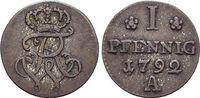 Pfennig 1792  A Brandenburg-Preussen Friedrich Wilhelm II. 1786-1797. s... 22,00 EUR  zzgl. 3,00 EUR Versand