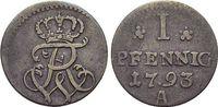 Pfennig 1793  A Brandenburg-Preussen Friedrich Wilhelm II. 1786-1797. s... 19,00 EUR  zzgl. 3,00 EUR Versand
