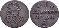 Pfennig 1794  A Brandenburg-Preussen Friedrich Wilhelm II. 1786-1797. s... 22,00 EUR  zzgl. 3,00 EUR Versand