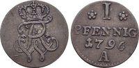Pfennig 1796  A Brandenburg-Preussen Friedrich Wilhelm II. 1786-1797. s... 19,00 EUR  zzgl. 3,00 EUR Versand