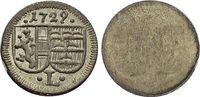 Einseiteiger Pfennig 1729 Salzburg-Erzbistum Leopold Anton von Firmian ... 22,00 EUR  zzgl. 3,00 EUR Versand