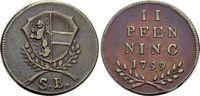 CU-2 Pfennig 1799 Salzburg-Erzbistum Hieronymus von Colloredo 1772-1803... 19,00 EUR  zzgl. 3,00 EUR Versand