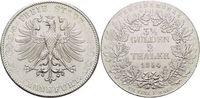 Doppeltaler 1854 Frankfurt-Stadt  Kl.Kr., kl.Rf., vorzüglich +  389,00 EUR kostenloser Versand