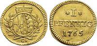 Gold-Abschlag vom Pfennig 1765  C Sachsen-Albertinische Linie Friedrich... 645,00 EUR kostenloser Versand