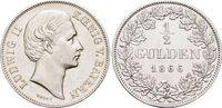 1/2 Gulden 1866 Bayern Ludwig II. 1864-1886. Min.Kr., vorzüglich +  159,00 EUR kostenloser Versand