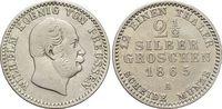 2 1/2 Silbergroschen 1865  A Brandenburg-Preussen Wilhelm I. 1861-1888.... 15,00 EUR  zzgl. 3,00 EUR Versand