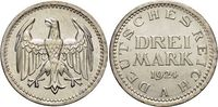 3 Mark 1924  A Weimarer Republik  Prögebedingter unruhiger Rand, fast S... 59,00 EUR  zzgl. 3,00 EUR Versand