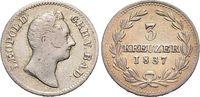 3 Kreuzer 1837 Baden-Durlach Leopold 1830-1852. sehr schön - vorzüglich  59,00 EUR  zzgl. 3,00 EUR Versand