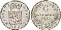 6 Kreuzer 1831 Nassau Wilhelm 1816-1839. Min.Zainende, 2++  29,00 EUR  zzgl. 3,00 EUR Versand