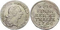 1/6 Taler 1766  B Brandenburg-Preussen Friedrich II. 1740-1786, Münzstä... 49,00 EUR  zzgl. 3,00 EUR Versand