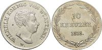 10 Kreuzer 1818 Württemberg Wilhelm I. 1816-1864. Kl.Sf., fast vorzügli... 159,00 EUR kostenloser Versand