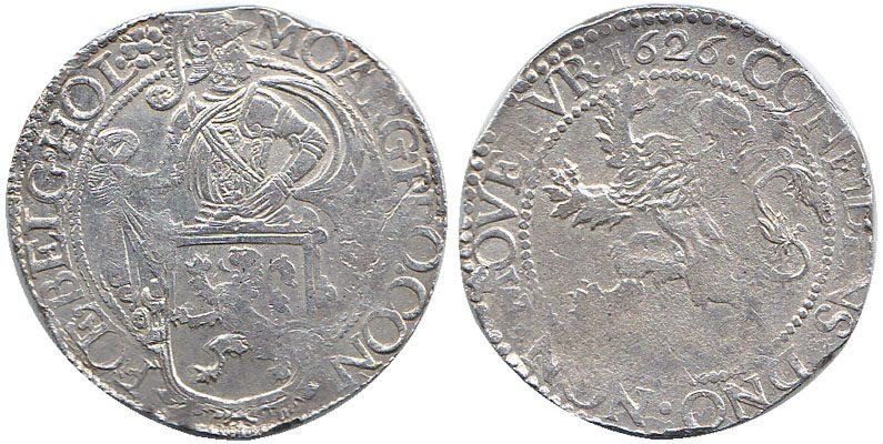 Löwen-Taler 1626 Niederlande / Provinz Holland Ritter hinter Löwenwappen / Steigender Löwe aEF