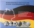 6x 10 Euro 2003 Germany Official blister with 6 pieces 10 euro silver c... 149,50 EUR  zzgl. 10,00 EUR Versand