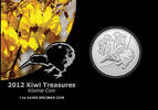 New Zealand 1 Dollar Kiwi 2012 1 oz Silver