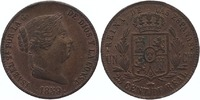 25 Centimos 1859 Spain Isabel II 1833-1868 Extremely Fine  65,00 EUR  zzgl. 10,00 EUR Versand