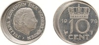 "10 Cent 1979 Netherlands Juliana 1948-1980 ""Misstrike"" 15% of... 50,00 EUR"
