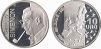 10 Euro 2003 Belgium Georges Simenon . Proof in Capsule  14,83 EUR  +  10,00 EUR shipping