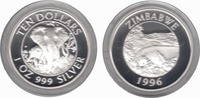 10 Dollar 1996 Zimbabwe Wildlife Two Elephants Proof in Capsule  85,00 EUR  zzgl. 10,00 EUR Versand