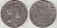 1 Guilder 1840 Netherlands Willem I 1815-1840 Almost Very Fine  125,00 EUR  zzgl. 10,00 EUR Versand