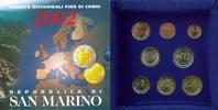 8,88 Euro 2002 San Marino Complete Euro Set   97,40 EUR  zzgl. 10,00 EUR Versand