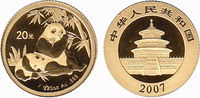20 Yuan 2007 China Panda Bear. BU in Capsule  130,00 EUR  zzgl. 10,00 EUR Versand