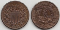 2 Cent 1854 USA Large Motto Extremely Fine  75,00 EUR  zzgl. 10,00 EUR Versand