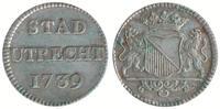 Duit 1739 Niederlande / Stad Utrecht Duit Abslag in Silber Vorzüglich  95,00 EUR  zzgl. 10,00 EUR Versand