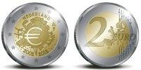 2 Euro 2012 Niederlande 10 Jahre Euro Bargeld Unc  6,00 EUR  +  10,00 EUR shipping