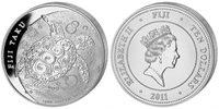 10 Dollars 2011 Fiji Taku 5oz Silver Unc in Capsule  184,50 EUR  zzgl. 10,00 EUR Versand